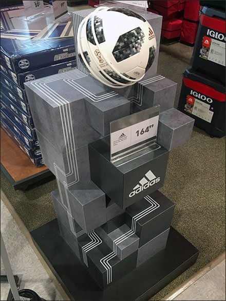 Tower Retail Fixtures / Store Fixtures - Adidas Soccer Ball Ziggurat Tower