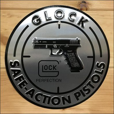 Glock Brand Medallion At Cabin Armory