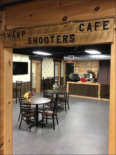 Cabin Armory Sharp Shooters Cafe