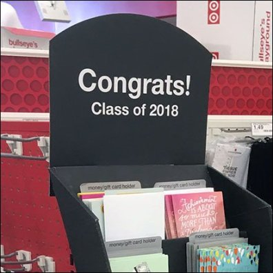 Congrats to Grads Corrugated Tower Display