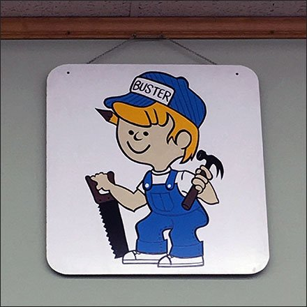 Conyngham Builders Retail Fixtures - Conyngham Builders Buster Build-It Mascot Logo