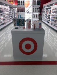 Target Branded Cosmetics Sampling Station