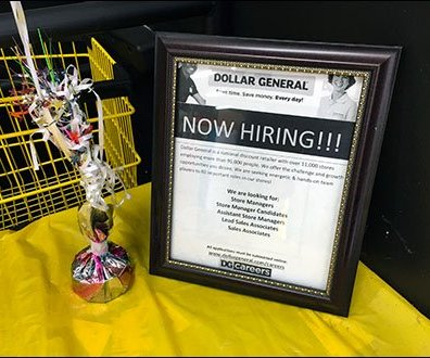 Branded and Ballooned Dollar General Hiring