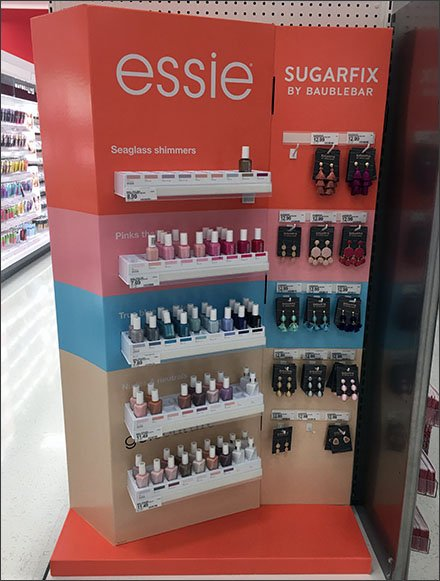 Essie Nail Polish Small Shelf Display Fixtures Close Up