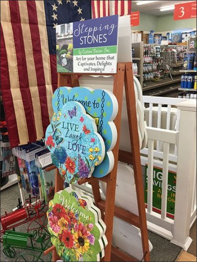 Garden Stepping Stones A-Frame Display