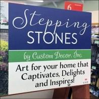 Garden Stepping Stones A-Frame Display