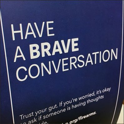 Have a Brave Conversation About Suicide Tent Sign