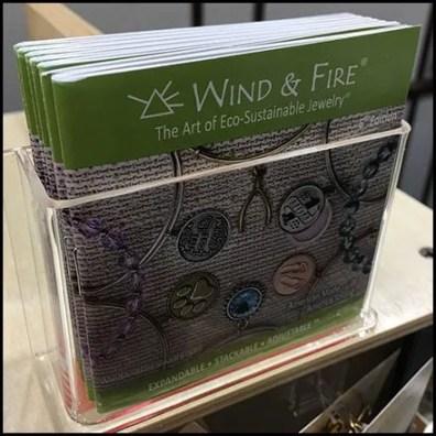 Wind & Fire Counter-Top Brochure Holder
