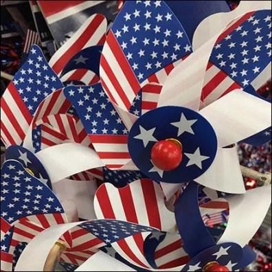 Patriotic Pinwheel Galvanized Quiver Zip Tie