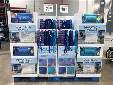 Nautica Beach Chair Branded Pallet Display
