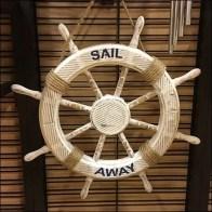 Nautical Tableware Slatwire Endcap Display