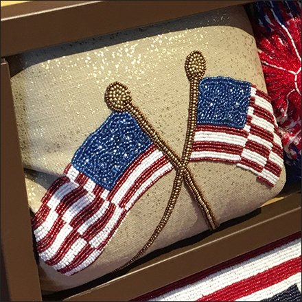 Patriotic Pillow Promotion at Shelf Edge