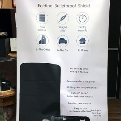 Pop Shield Bullet proof Shield Pop-Up Banners
