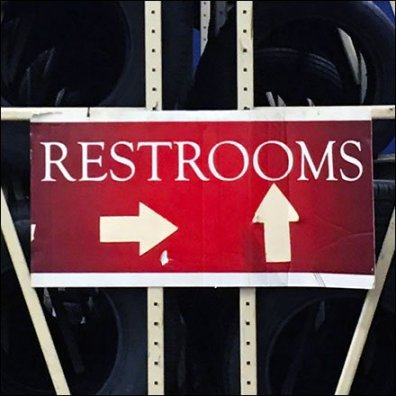 Restroom Labyrinth Navigation Signs