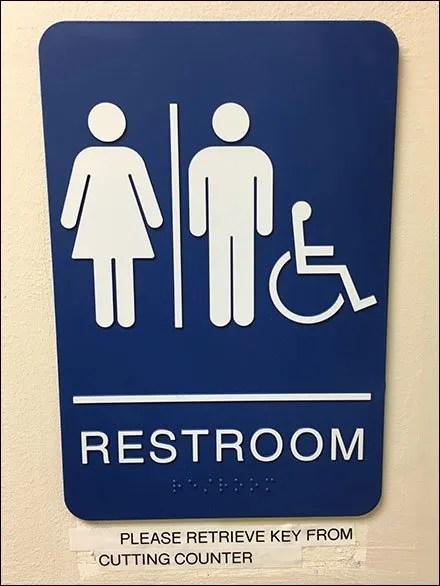 Security Key Controls Restroom Access