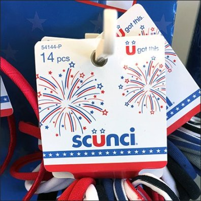Scunci Scrunchies and Patriotic Hair Accessories