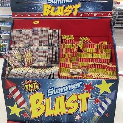 Summer Fireworks Are A Blast Pallet Display