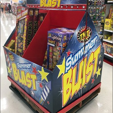 Summer Fireworks Are A Blast Pallet Display