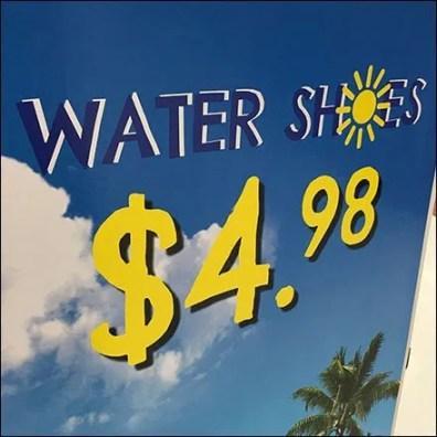 Beach-Theme Water Shoe Island Display