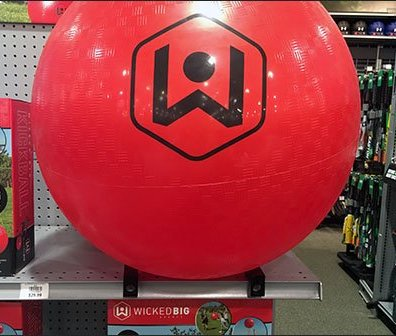 Wicked Big Kickball On-Shelf Magnetic Display