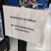 Bilingual Self-Checkout Limit Strictly Enforced