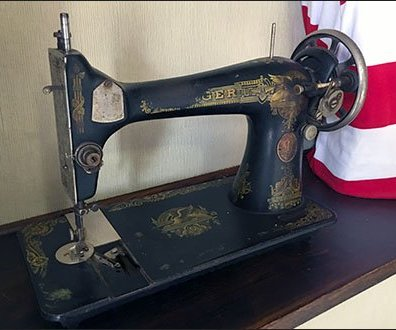 Vintage Sewing Machine Visual Merchandising
