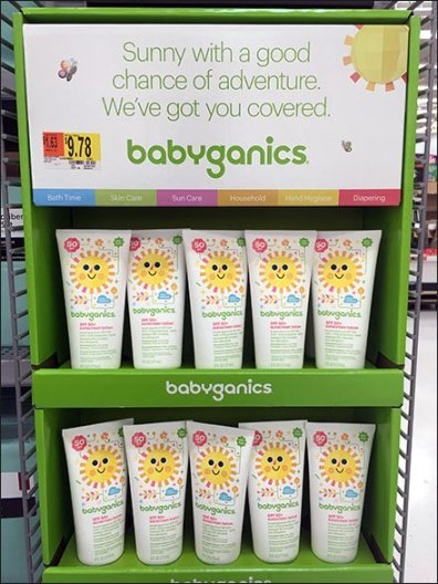 Colorful Babyganics SPF 50+ Sunscreen PowerWing