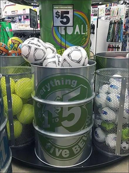 55 Gallon Barrel Bulk Bin Ball Display