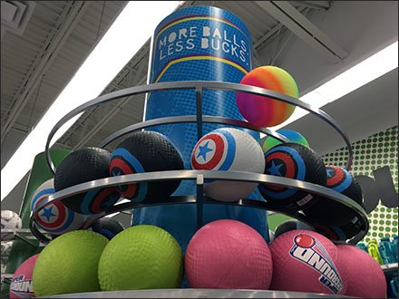 Ball Race Track Overhead Merchandising