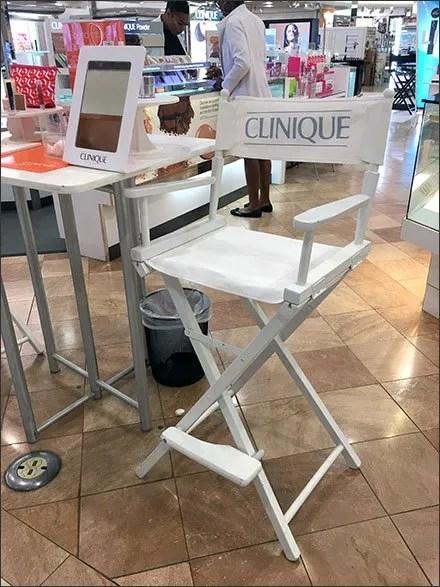 Clinique Directors Chair For Cosmetics