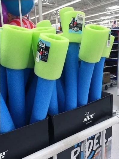 Swim Noodles PVC Bulk Bin for Drink Rider