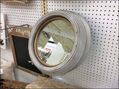Asymmetric Flip Front Hook Mirror Holder