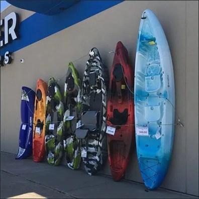 Gander Mountain Outdoors Kayak Lineup