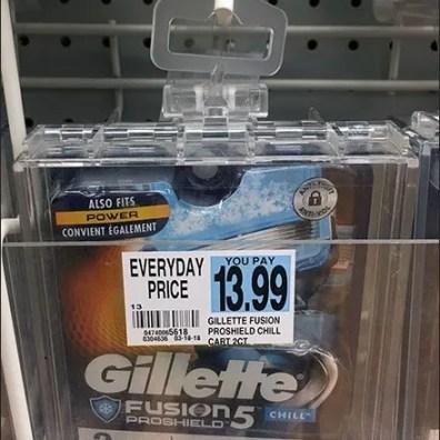 Gillette Hook-Hung Safer Box Merchandising