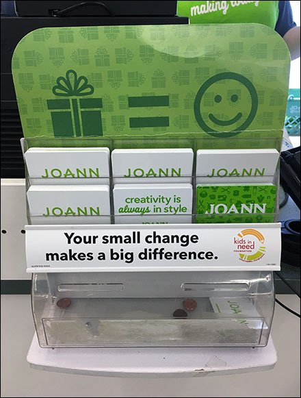 Acrylic Gift Card Rack Charity Pitch