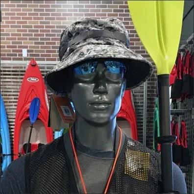 Mannequin Bolstered Kayak Lifestyle Sell