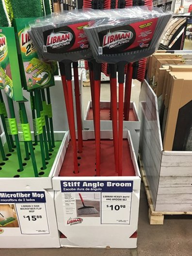 Angle Broom Corrugated Display by Libman
