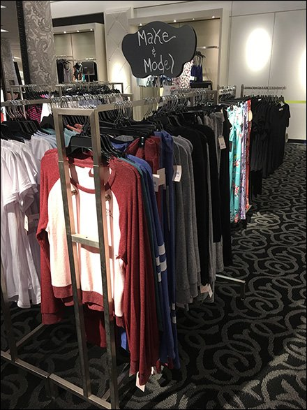 Shopping Fashion By Make and Model Clothing Rack