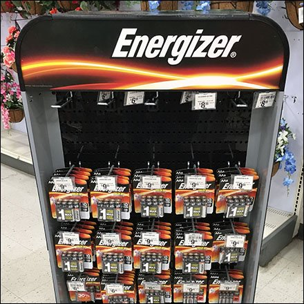 Compact Energizer Battery Mobile Display