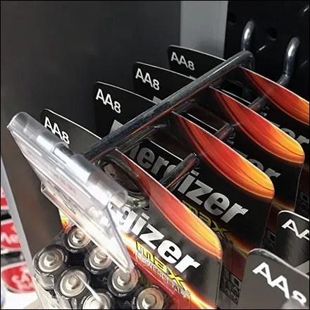 Compact Energizer Battery Flip-Front Label Holder