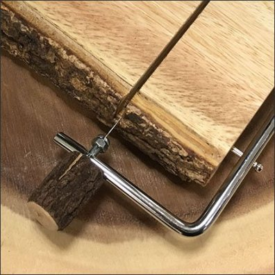 Natural Wood Cheese Slicer Includes Bark