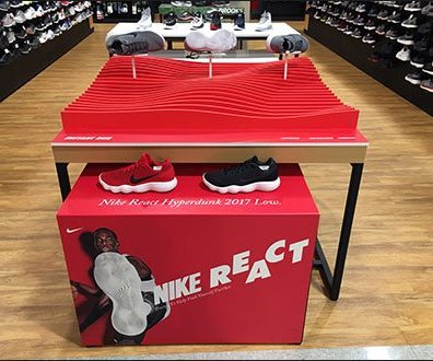 Nike React Table-Top Terrain Display