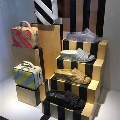 Nordstrom Racing Stripe Visual Merchandising