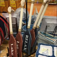 Canoe Paddle Merchandising Plate Displayer