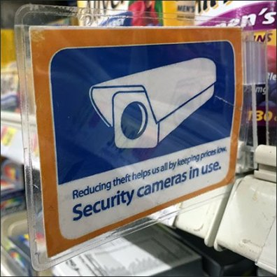 Security Cameras In Use Shelf-Edge Flag