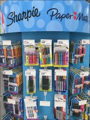 Dual Sharpie and PaperMate Endcap Display