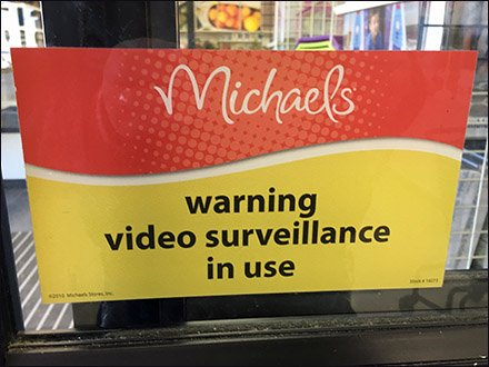 Warning Video Surveillance In Use
