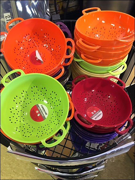 Castered Circular Floor Rack For Colanders