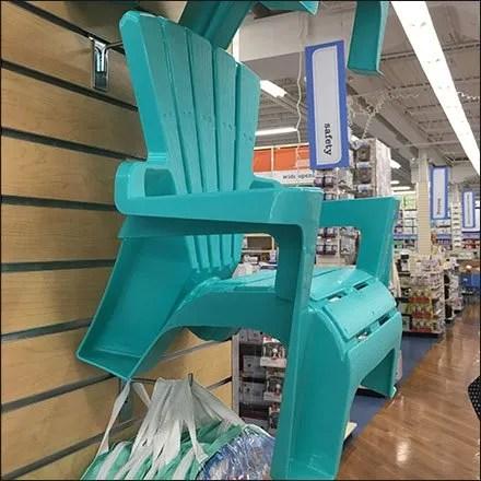 Adirondack Chair Sales by Slatwall Hook