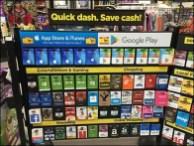 Billboarding Gift Cards Along Cashwrap Queue
